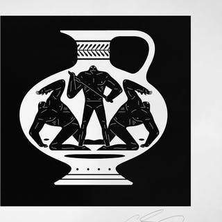 Cleon Peterson, End Of Empire,Aryballos , 2018, sérigraphie