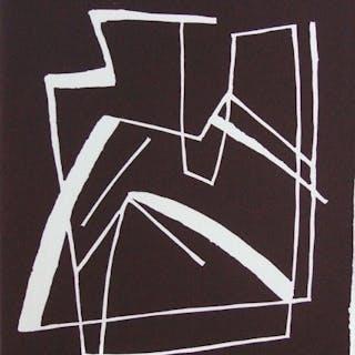 "Alberto Magnelli  ""Sans titre, 1968""  linogravure ORIGINALE  signée"