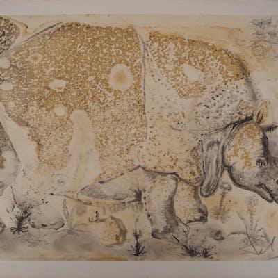 Salvador Dali : Rhinocéros - Gravure originale signée