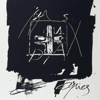 Lithographie Originale d'Antoni Tàpies, signée