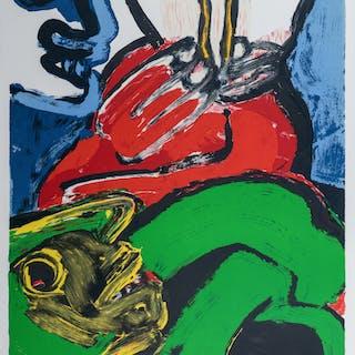 Lithographie Originale de Bengt Lindstrom, 1986
