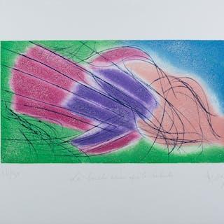 Jean MESSAGIER, La bouche amère après la rhubarbe, 1985, Gravure originale