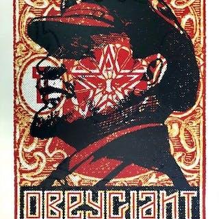 Shepard FAIREY (Obey) - Lenin-Briefmarke, 2018 - Siebdruck signiert