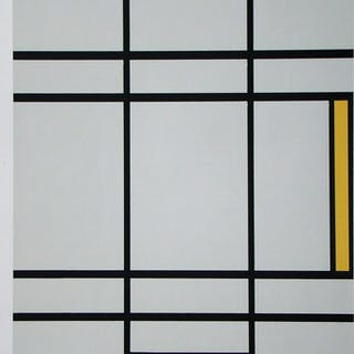 PIET MONDRIAN ( d'après ) - Sérigraphie en couleurs - 1978