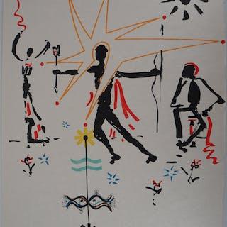 Jean COCTEAU et Raymond MORETTI : L'étoile - Lithographie originale signée