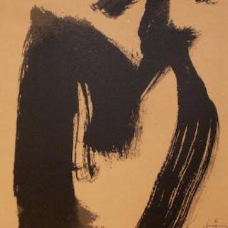 Antoni Tapies (d'après), Composition, lithographie
