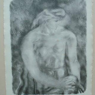 Georges BRAQUE (1882 - 1963) - Nu aux feuilles - Lithographie originale signée