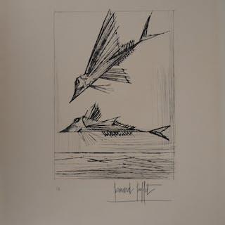 Bernard BUFFET (1928 - 1999) - Le Poisson, 1959, gravure originale signée