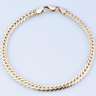 Magnifique bracelet en or jaune 18 carats (750 millièmes) en maille