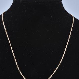 Collier en Or Jaune 18 carats, chaîne en maille forçat