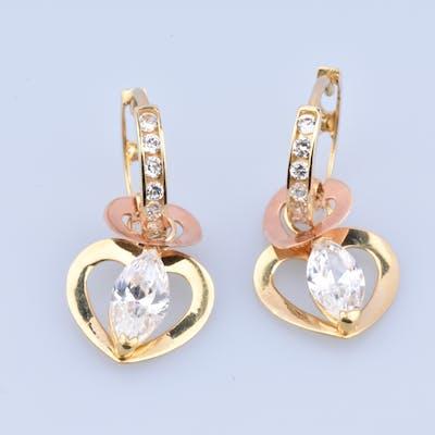 Boucles d'oreille créoles en or jaune 18 carats (750 millièmes)