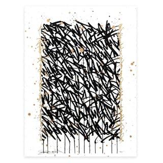 BISCO SMITH grateful,serigraphie embéllie à la main  à 'l encre or