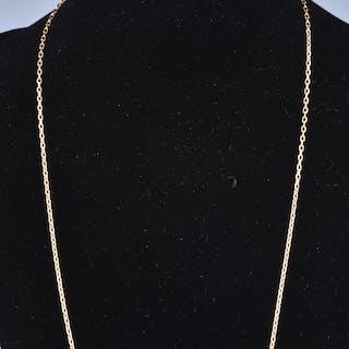Long collier de 65.5 cm en or 18 carats (750 millièmes) chaine en