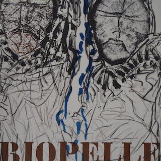 Jean-Paul RIOPELLE : Deux visages - Lithographie