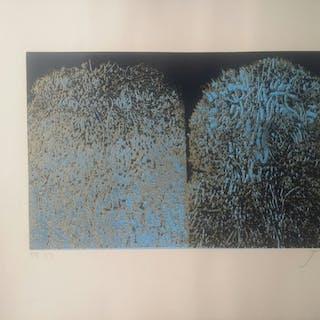 """Mario PRASSINOS - """"Les arbres""""  - Lithographie signée"""