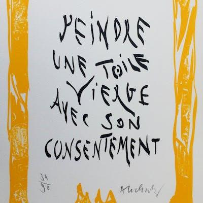 """Pierre ALECHINSKY - """"Mots"""" - 2007 - Lithographie originale signée"""