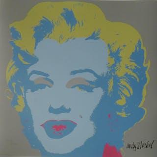 Andy WARHOL (d'après) Marilyn Monroe Gris Bleu, Lithographie signée