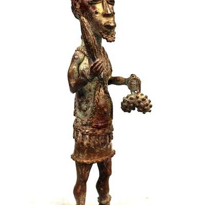 Côte d'Ivoire, Statue en bronze - Devin Baoulé