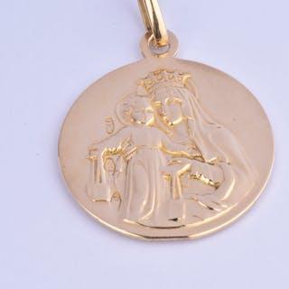 Magnifique pendentif double face Vierge Marie et petit Jésus / Jésus