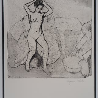 Suzanne VALADON - La toilette, original signed etching, 1932