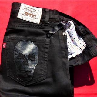 Damien Hirst & Andy Warhol Factory X Levi's-Skull, Jean numéroté