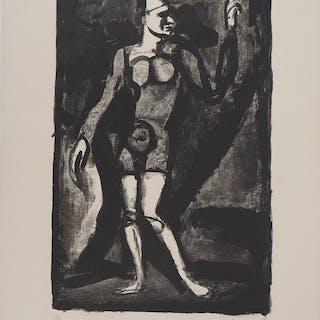 Georges ROUAULT : Le clown - Gravure originale signée au crayon