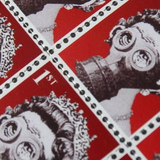 Banksy - Weapons of Mass Distraction, Strip of 16 stamps