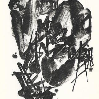 Chu Teh Chun - Carte vœux signée main