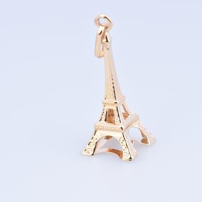 Pendentif TOUR EIFFEL PARIS en or 18 carats (750 millièmes).