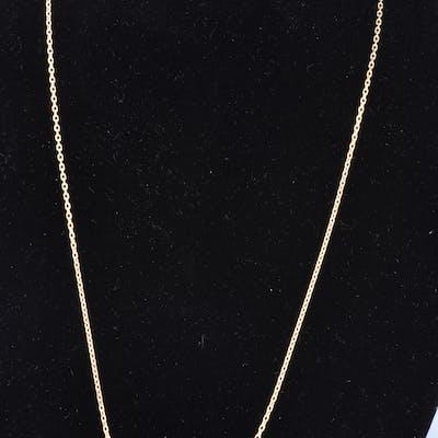 Collier en or jaune 18 carats (750/1000) chaine en maille forçat