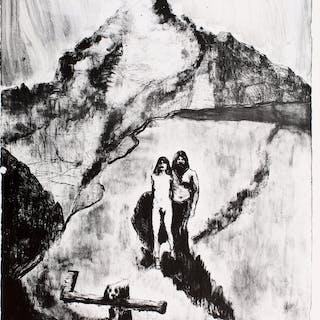 """BLUTCH - """"Le Pays de la Soif"""", lithographie, 2017"""