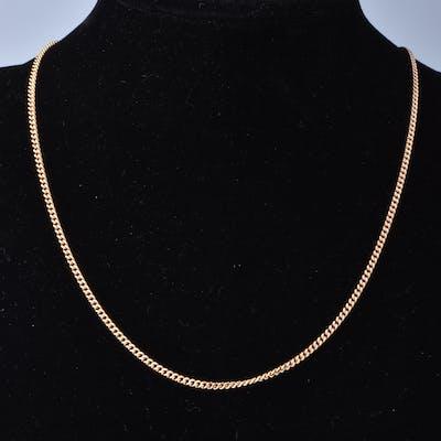 Collier en or jaune 18 carats (750 millièmes) chaine en maille gourmette