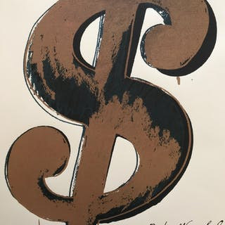 Andy WARHOL (d'après) - Dollar Sign, Lithographie