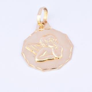 Beau pendentif Ange Raphaël en or jaune 18 carats (750 millièmes)