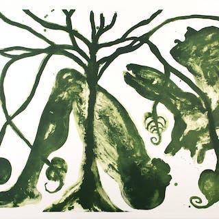 """Barthélémy TOGUO - """"Take a Green Breath"""", lithographie, 2017"""