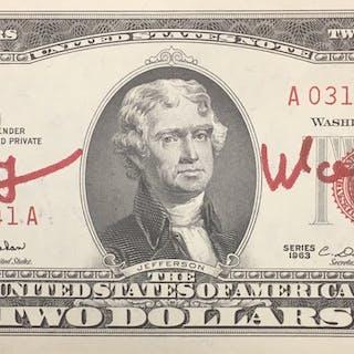 "Andy Warhol: ""Two Dollars Bill"", 1963"