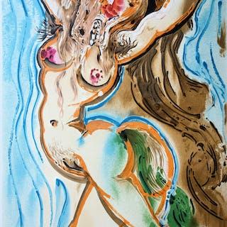 Salvador DALI : Femme Cheval - Lithographie Signée, 1983
