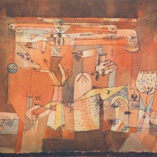 Paul KLEE : Chaos mécanique - Lithographie et pochoir signée, 1964