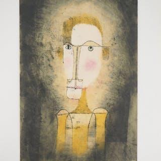 Paul KLEE : Portrait d'un homme jaune - Lithographie et pochoir signée, 1964