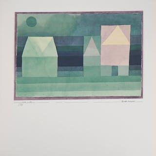 Paul KLEE : Trois maisons cubistes - Lithographie et pochoir signée, 1964
