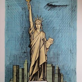 Bernard  Buffet,  statue de la liberté, lithographie ORIGINALE   épreuve