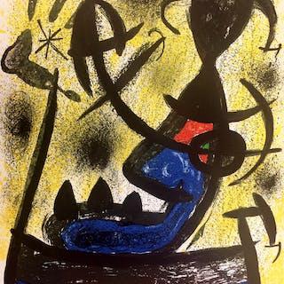 """Joan MIRO - """"El Circulo de Piedra"""" - 1970 - Lithographie originale signée"""