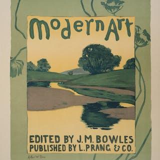 Arthur Wesley DOW : Art Moderne - Lithographie originale signée, 1895