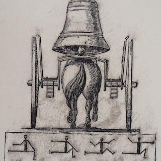 Max ERNST : Surréalisme, Le cheval-cloche - Lithographie Originale Signée