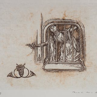 Max ERNST : La fugue - Lithographie Originale Signée