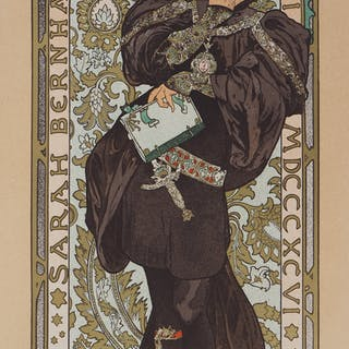 Alfons Mucha : Lorenzaccio (Sarah Bernhardt) - Lithographie signée, 1897