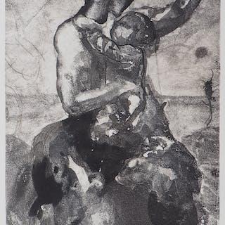 Auguste RODIN : Mère et enfant - Gravure, 1897