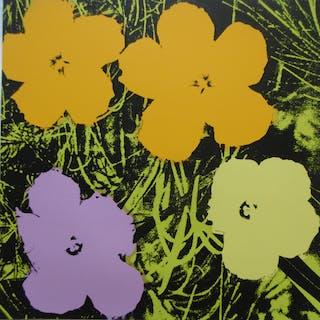Andy WARHOL (d'après) - Poppy Flowers (Jaunes) - Sérigraphie Sunday B Morning