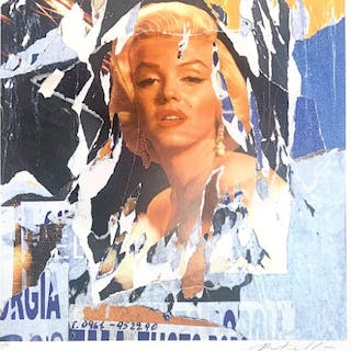 Mimmo ROTELLA - Marilyn Monroe, seridécollage