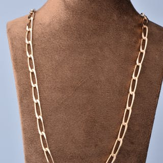 Collier homme en or jaune 18k (750/1000),  maille cheval.